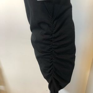 Athleta Dresses - NWT Athleta black midi ruched tank dress